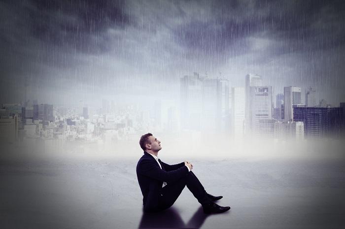 雨とサラリーマン